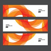 stock photo of letterhead  - Abstract header set - JPG