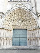 pic of poitiers  - Church door at the Cathedrale Saint Pierre in Poitiers France - JPG