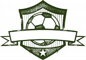 Vintage Soccer/Football Crest with Blank Banner