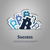 stock photo of bitcoin  - Success  - JPG