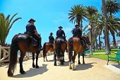 SANTA MONICA, CALIFORNIA, USA - JULY 4, 2013: Santa Monica Police Department patrols Santa Monica re