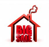 House Market Big Sale Sign Illustration