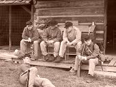 Civil War Reenactors At New Market Battlefield, Virginia