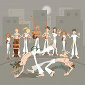 A arte marcial brasileira Capoeira