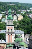 Dormition Or Assumption Church With The 400 Years Old Korniakt Tower,Lvov,ukraine
