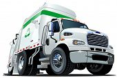 stock photo of trash truck  - Cartoon tow truck isolated on white background - JPG