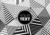 background of black and white striped triangles for graphic design