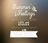 Summer feelings typography - blurred background