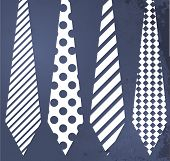 Fathers day grunge blue background with ties