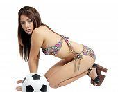 Woman And Football