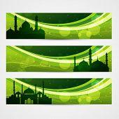stock photo of namaz  - beautiful set of ramadan and eid banners - JPG