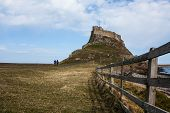 Lindisfarne castle in holy islands.