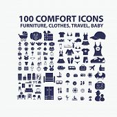 stock photo of acorn  - 100 comfort icons - JPG