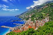 bela costa de Amalfi, Itália