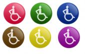 Glossy Wheelchair Button