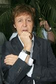 Sir Paul McCartney at the ceremony posthumously honoring George Harrison with a star on the Hollywoo
