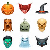 Personagens de halloween do vetor.