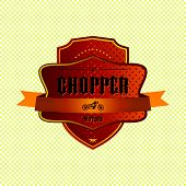 chopper motorcycle label