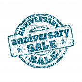Anniversary sale grunge rubber stamp