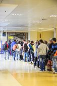 People Queueing, Girona Airport