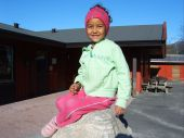 girl in kindergarden