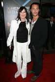 Anjelica Huston and Jack Huston at the Industry Screening of 'X-Men Origins Wolverine'. Grauman's Ch