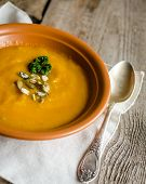Spicy Pumpkin Soup With Pumpkin Seeds