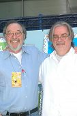James L. Brooks and Matt Groening  at the ceremony dedicating US Postal Stamps to the Television Sho
