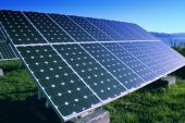 stock photo of solar battery  - Alternative energy - JPG