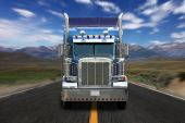 pic of big-rig  - Wide Open Rural Road in the Eastern Sierras