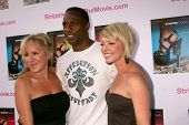 Elana Krausz with Willie Gault and Lisa Arturo at the Los Angeles Premiere of