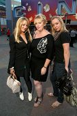 Jennifer Blanc-Biehn with Dena Wiseman and Jennifer Edwards out for the evening at Universal City Wa
