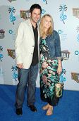 Jonathan Silverman and Jennifer Finnigan at the Jon Lovitz Comedy Club Charity Opening, benefitting