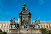 Maria Theresia square in Vienna, Austria