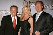 Wolfgang Puck with Camille Grammer and Kelsey Grammer  at the Heart Foundation gala honoring Wolfgang Puck. The Beverly Wilshire Hotel, Beverly Hills, CA. 05-30-09