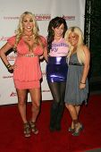 Mary Carey with Brandi Cunningham and Crista Moore at the 'Celebrity Pornhab with Dr. Screw' Premier
