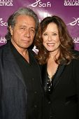 Edward James Olmos and Mary McDonnell  at the Envelope Screening Series of 'Battlestar Galactica'. M