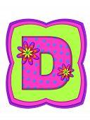 Alphabet Daisy Daze D
