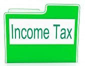 Income Tax Means Paying Taxes And Correspondence