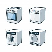 Home Appliances 2 - Cooker, Dishwasher, Dryer, Washing Machine