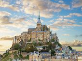 pic of michel  - close up of Mont Saint Michel on sunset - JPG