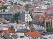 image of leipzig  - Aerial view of the city of Leipzig in Germany with the Thomaskirche church - JPG