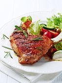 Roasted Chicken Leg with Salad