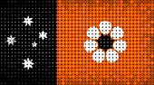 Flag Of Australian State Of Northern Territory Lighting On Led Display