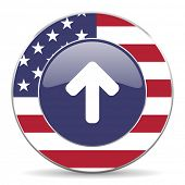 up arrow merican icon