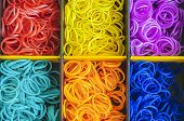 Colorful Rainbow Loom Rubber Bands In A Box