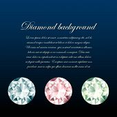 Stylish Diamonds Background.