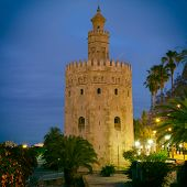 The Torre del Oro (Gold Tower) in Seville, Spain.