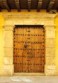 Doors Of Colonial Building In Cartagena, Colombia