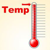 Temperature Thermometer Indicates Mercury Centigrade And Scale